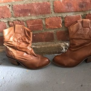 Cowgirl Leather Ankle Booties